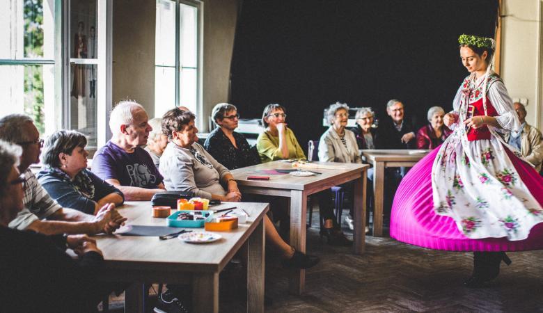 Warsztaty dla niesłyszących w ramach projektu Spektakle bez barier Teatru Polskiego