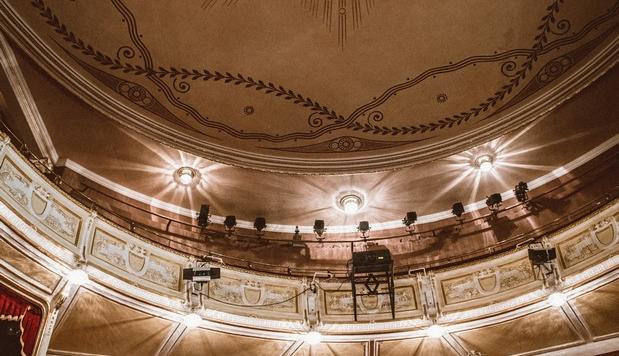 Na zdjęciu widok na balkony i loże teatru Polskiego.