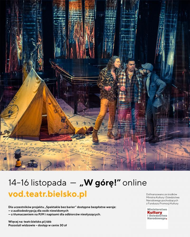 """Spektakl """"W górę!"""" online 14-16 listopada"""